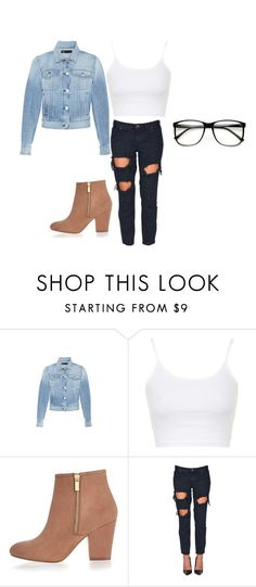 """""""outfit"""" by mynameisblrryface ❤ liked on Polyvore featuring 3x1, Topshop, River Island and One Teaspoon"""