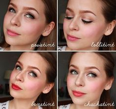 Benefit Cosmetics tinted lip cheek stain swatches