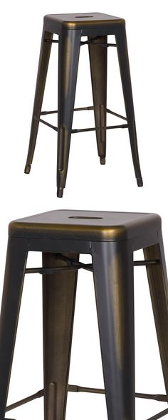 All that glitters isn't gold. In fact, in the Highland Park Stool's case, its lustrous finish is more of a stunning metallic bronze. Inspired by an iconic industrial silhouette, this gorgeous stool set...  Find the Highland Park Stool - Set of 2, as seen in the Mechanical Wonders at the Interval, San Francisco Collection at http://dotandbo.com/collections/mechanical-wonders-at-the-interval-sf?utm_source=pinterest&utm_medium=organic&db_sku=124287