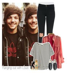 """Hanging out with Louis"" by shefi-22 ❤ liked on Polyvore featuring Frame Denim, Vans, NYX and Maison Margiela"