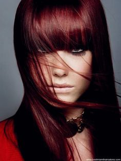 Dark red brown hair, love this color too.Michelle Plett,can you do this to my hair..This is the 3rd one..