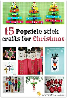 15 Easy Popsicle stick crafts for Christmas