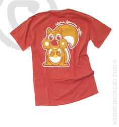 1000 images about alpha gamma delta squirrels on for Cute greek letter shirts