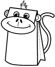 Paper Bag Monkey Puppet | StoryPlace