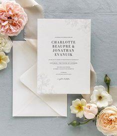Fine Stationery, Dusty Blue Weddings, Classic Wedding Invitations, Romantic Weddings, Spring Wedding, Weddingideas, Wedding Flowers, Wedding Planning, Wedding Decorations