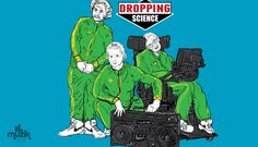 Dropping Science by ZombieMedia - Get Free Worldwide Shipping! This neat design is available on comfy T-shirt (including oversized shirts up to ladies fit and kids shirts), sweatshirts, hoodies, phone cases, and more. Cool Tees, Cool T Shirts, Peel Sessions, Science Tshirts, Marie Curie, Funny New, Beastie Boys, Britpop, Post Punk