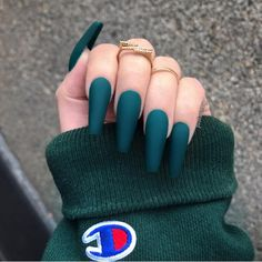 20 Charming Acrylic Nail Designs To Copy - Faded French Nails D . - 20 charming acrylic nail designs to copy – faded French nails DIY – DIY fad - Summer Acrylic Nails, Best Acrylic Nails, Acrylic Nail Designs, Summer Nails, Winter Nails, Acrylic Nails Green, Matte Green Nails, Spring Nails, Metallic Nails