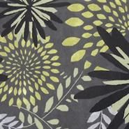 Botanical Fl Hand Crafted Black Green And Grey New Zealand
