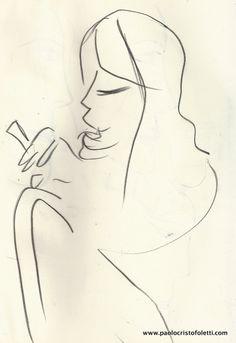 Sketches pour «L'identité de la femme» | Crayon Pitt  - 21 x 29