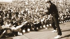 September 1956 - Elvis Returns To Tupelo To Perform Two Shows At The Mississippi Alabama Fair and Dairy Show At The Tupelo Fairgrounds, Tupelo, MS Elvis Memorabilia, Tupelo Mississippi, Tammy Wynette, Young Elvis, John Lennon Beatles, Buddy Holly, Elvis Presley Photos, Chuck Berry, King Of Music