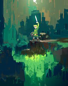 Legend of Zelda Concept Art by StressCavity