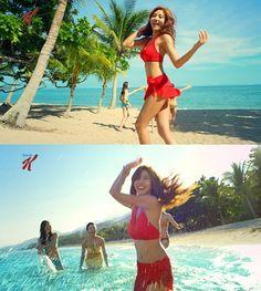 Son Dam Bi shows off her bikini body for 'Kellogg's 'Special K' CF