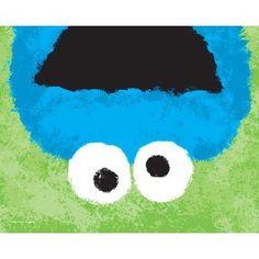 Sesame Street, Closeup, Cookie Monster , 8 x 10 Poster Print
