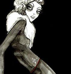 Fashion illustration - bold, chic and moody fashion drawing // Cassandra Rhodin