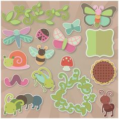 Cheryl's Cute Bugs SVG Kit - FOR SOME REASON THESE PINS ARE NOT LINKING CORRECTLY...YOU MAY HAVE TO USE THE SVG CUTS SEARCH BOX TO SEARCH FOR THE ITEM