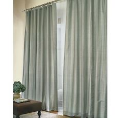 restoration hardware drapes. Master Bedroom: Restoration Hardware THAI SILK SOLID DRAPERY Light Silver Sage Drapes