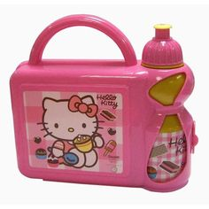 Buy New: £2.08  (Serving The UK & Ireland Only): HELLO KITTY GIRLS SCHOOL LUNCH BOX SANDWICH BAG + SPORTS BOTTLE SET PINK NEW