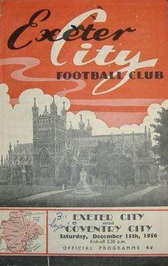 15 December 1956 v Exeter City Lost 2-4