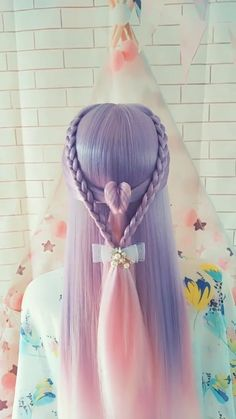 Hairstyle Tutorial 747 - All For Hair Color Balayage Pretty Hairstyles, Girl Hairstyles, Braided Hairstyles, Hairstyle Ideas, Birthday Hairstyles, Kawaii Hairstyles, Party Hairstyle, Curly Hair Styles, Natural Hair Styles
