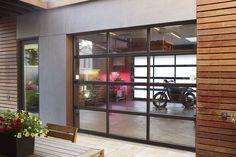 Clopay glass garage doors.