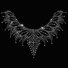 12x9 - SILVER DRIP NECKLINE - silver drip neckline, Material Transfer, Necklines