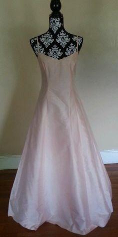 Ralph Lauren Ice Pink Silk Bridesmaids dress Size 12