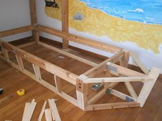 constructing a boat bed for 7 year old boy