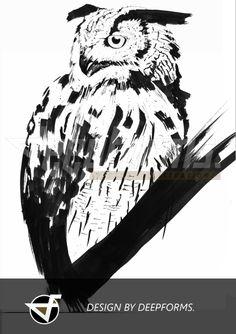 #owl #eule #uhu #tattoodesign #illustration #draw #tattooart #animal #art #tattooartist #ideen #tattoomotive #zeichnung #sketch www.deepforms.de IF YOU WOULD LIKE TO GET A PERSONAL ILLUSTRATION PLEASE CONTACT VERENA[at] deepforms.de