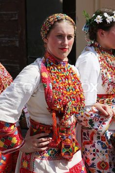 Croatian national costume from the village Bratina