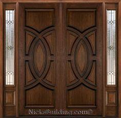 Modern Entrance Door, Main Entrance Door Design, Wooden Front Door Design, Double Door Design, Double Entrance Doors, Modern Wood Doors, Wooden Double Doors, Double Front Doors, Wooden Front Doors