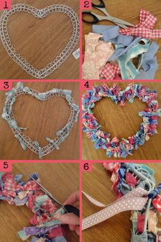 DIY Heart Shaped Fabric Wreath