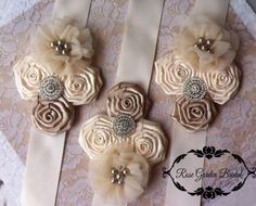 Ivory/Champagne WHOLESALE Lot of 3 by RoseGardenBridal on Etsy, $99.99