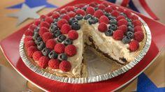 Vanilla Caramel Brownie 'n Berry Pie