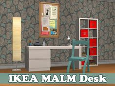 Advent Calendar 2015 - Day 21 IKEA MALM Desk Repositoried to the MALM double bed - requires IKEA SP Catalog: Surfaces > Desks Price: §150 Polycount: 406 Download here Sims 2, Ikea Malm Desk, Bookmark Printing, Buy Office, Ikea Furniture, Double Beds, Tool Design, Maxis, Room