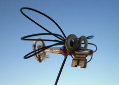 Fire Flys Antique Skeleton Key  Made in Iowa by JunkFx. by Junkfx, $10.00