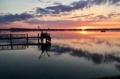 #poland #eurotrip #sunset #reflection #sea #pier #polandisbeautiful #shotoniphone #nofilter #magicmoments #instamoments #peaceandquiet