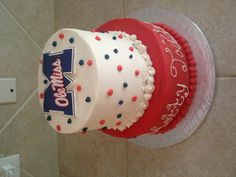 Ole Miss cake This will be Addys birthday theme next year