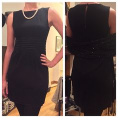Banana Republic Wool Black Dress Size: 2 This listing is for a black Banana Republic Wool Dress // Size: 2 // Perfect for the office! I ship same-day from pet/smoke-free home // Bundle with any other of my listings for an additional 10% off. ENJOY :)) Banana Republic Dresses Midi