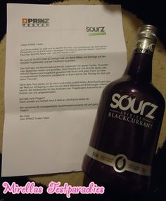 I tested the tasty drink Sourz Blackcurrant.