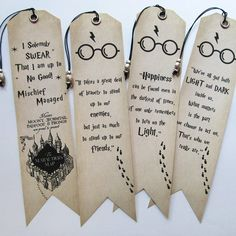 Handmade Bookmarks Set of 4 Harry Potter quotes Bookmarks With bead Book lovers Gift Idea, Unique Birthday Present, Bday Gift for friends Harry Potter Birthday Cards, Harry Potter Cards, Harry Potter Bookmark, Arte Do Harry Potter, Harry Potter Drawings, Harry Potter Quotes, Harry Potter Stationery, Creative Bookmarks, Cute Bookmarks