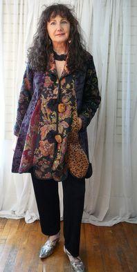 Patchwork swing jacket - from skirts of slacks (esp batik ones)