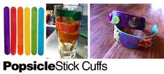 Did you know that you can bend a popsicle stick?...DIY: Popsicle Stick Cuff Bracelets :)