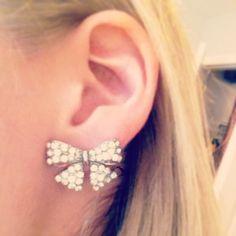 Bow earrings :)