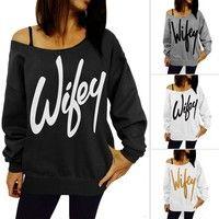 Wish   New Women Long Sleeve Hoodie Sweatshirt Sweater Casual Hooded Coat Pullover Top
