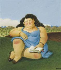 """""""La Lectora"""" by Fernando Botero                                                                                                                                                                                 Más"""