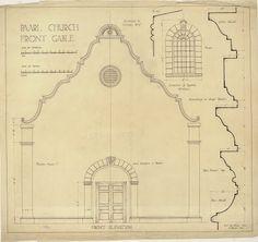 Classic Architecture, Amazing Architecture, Architecture Details, Door Design, House Design, Cape Dutch, Dutch House, Construction Drawings, Hacienda Style