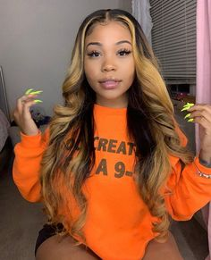 Ombre Full Lace Wigs With Baby Hair Pre Plucked Hairline , Dark Ash Blonde Hair, Blonde Hair Black Girls, Dyed Blonde Hair, Blonde Weave, Hair Dye, My Hairstyle, Wig Hairstyles, Curly Hair Styles, Natural Hair Styles