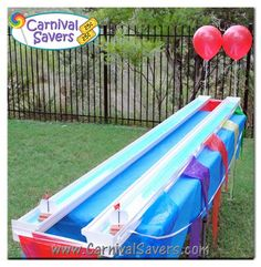 Unique School Carnival Game -- Rain Gutter Re-Yacht-a!