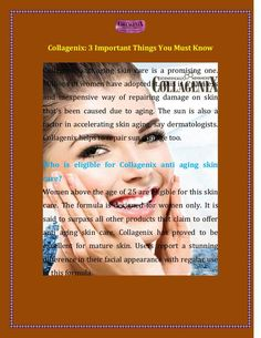 According to #collagenix #cream, it help to increase natural collagen production in skin.