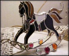 rocking horse 3-d stained glass